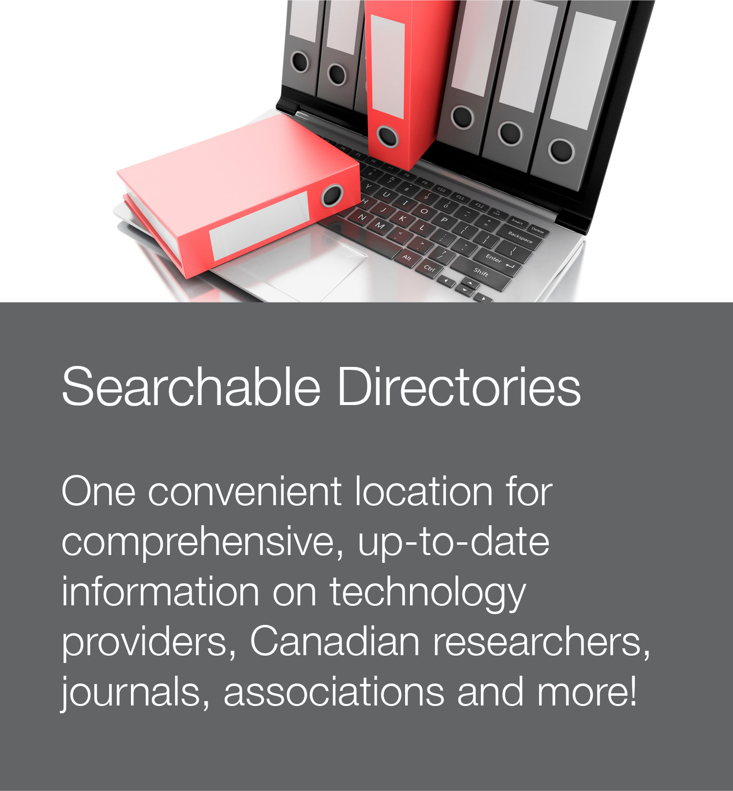 Stock photo to illustrate searchable directories