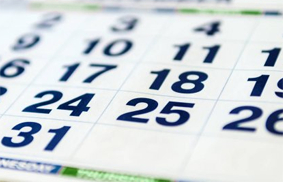 Stock photo of a calendar to illustrate upcoming conferences