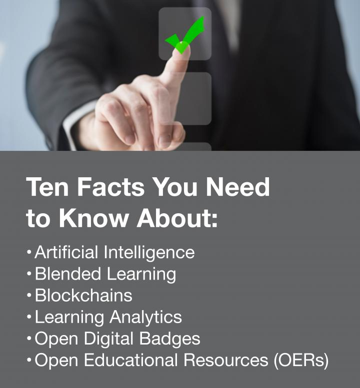 Stock photo promoting 10 key concepts in online learning