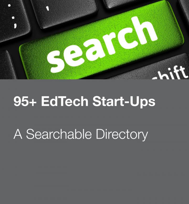 Stock photo promoting searchable directory of ed-tech startups