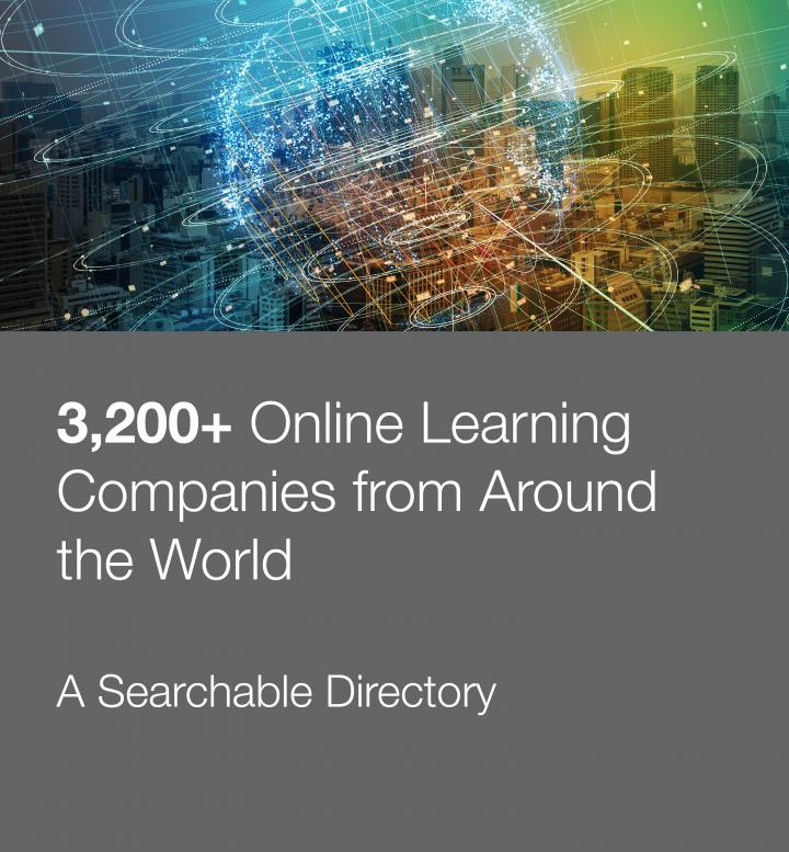 Stock photo promoting searchable directory of online learning companies