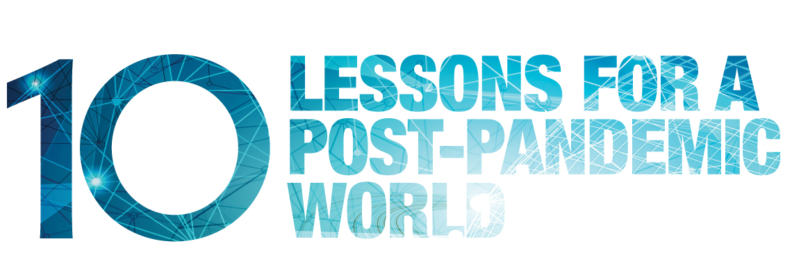 Page Header Image. Text: 10 Lessons for a Post-Pandemic World