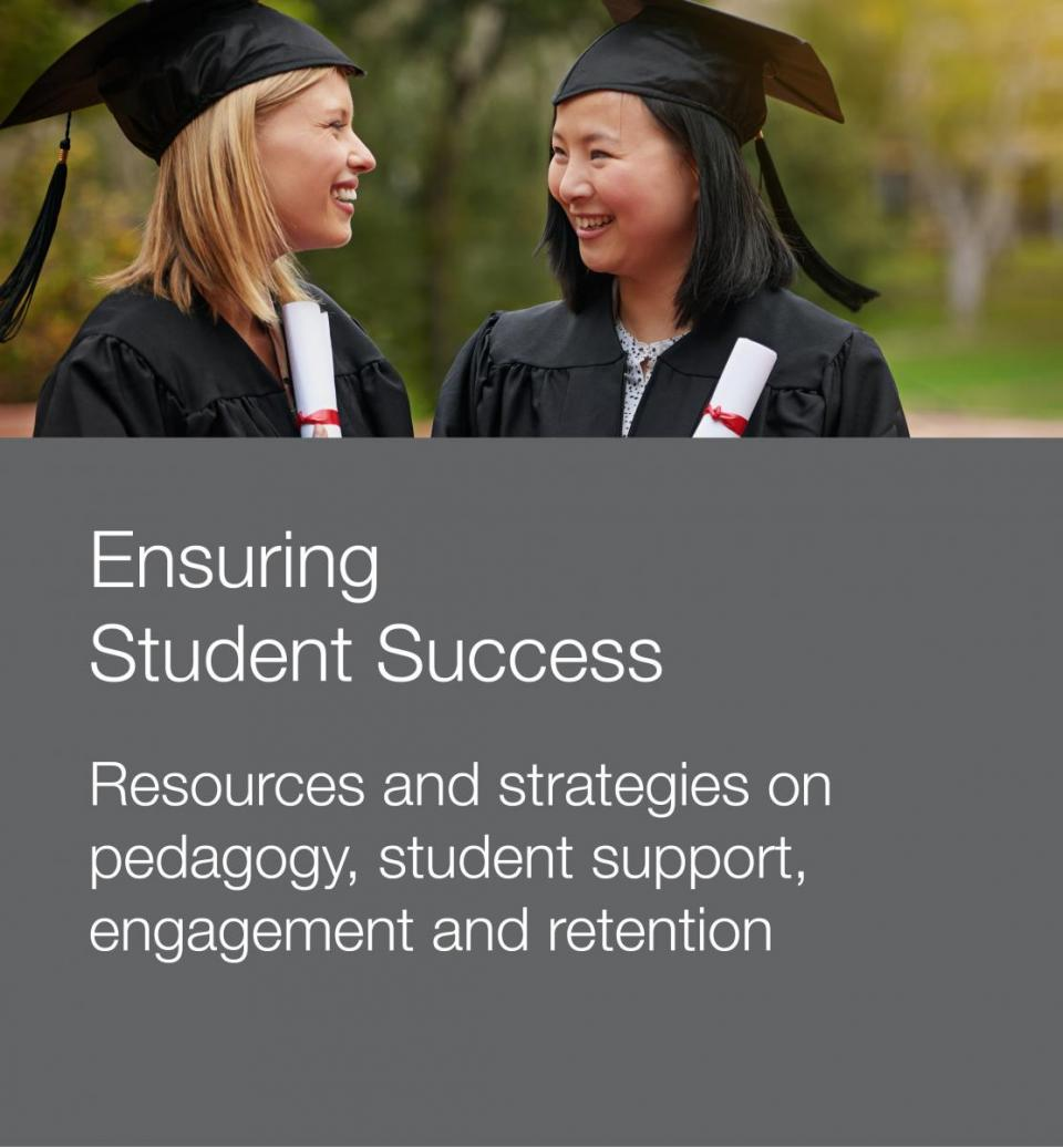 Photo of two students used to promote resources for student success