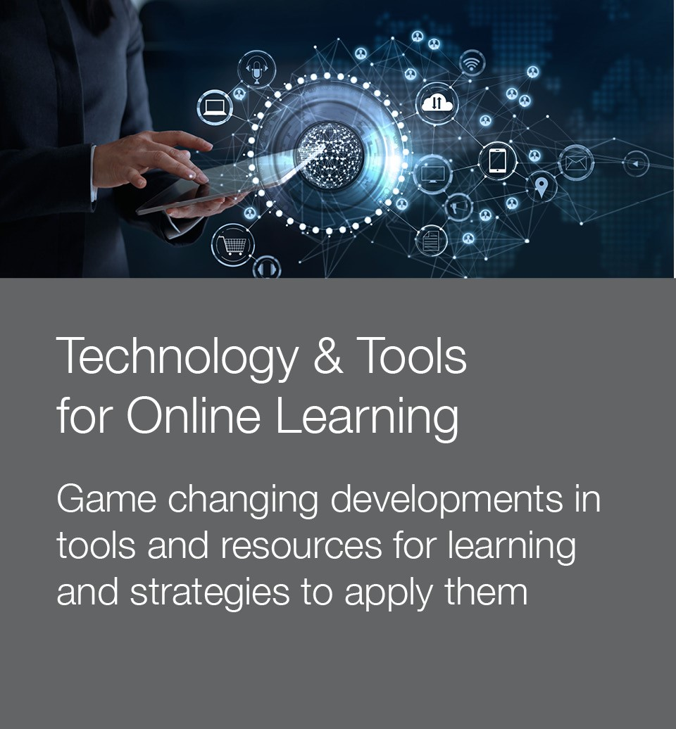 Stock photo to illustrate technology and tools for online learning